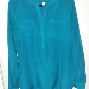 old navy turqoise colored womans blouse xxl